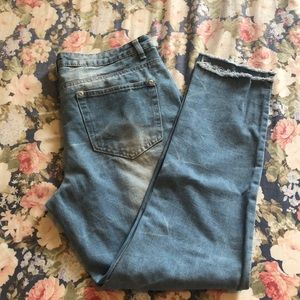 Boohoo distressed boyfriend jeans